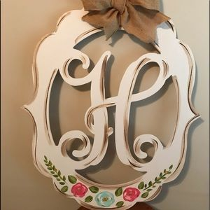 Letter H Door Wreath